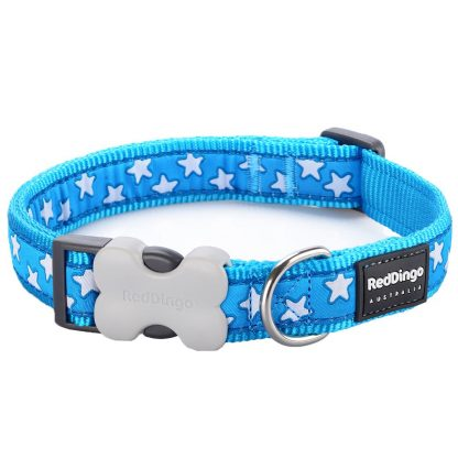red-dingo-white-star-on-turquoise-dog-collar