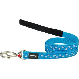 red-dingo-white-star-on-turquoise-dog-lead