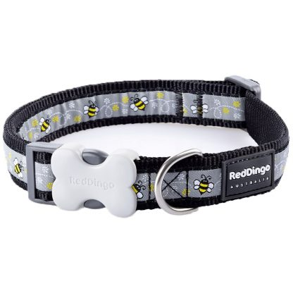 red-dingo-bumble-bee-dog-collar