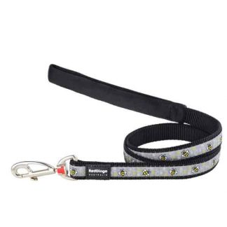 red-dingo-grey-bumble-bee-dog-lead