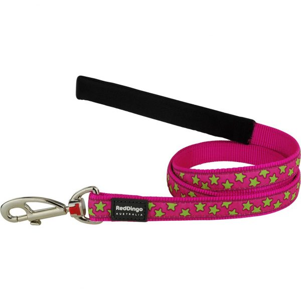 red-dingo-lime-star-on-pink-dog-lead