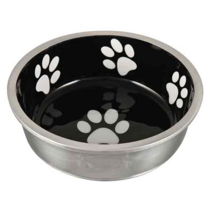 black-robusto-dog-bowl