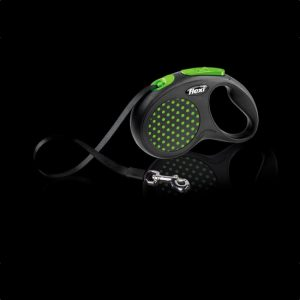flexi-design-tape-dog-lead-green