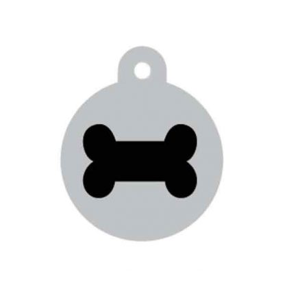 large-black-and-silver-bone-pet-tag
