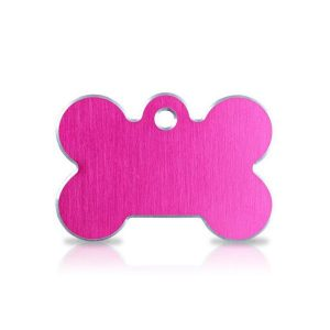 large-pink-bone-dog-tag