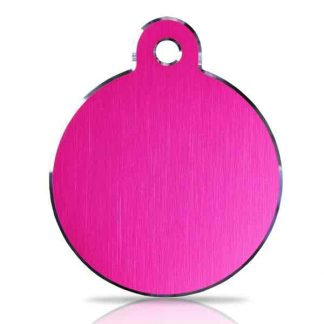 large-pink-disc-pet-tag