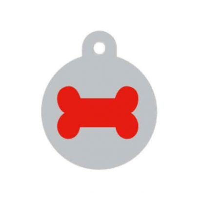 large-red-and-silver-bone-pet-tag