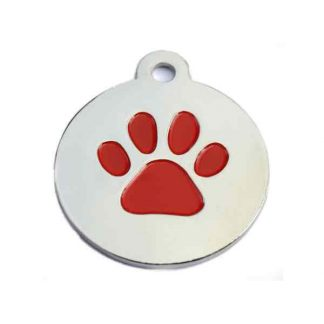 large-red-and-silver-paw-print-disc-pet-tag
