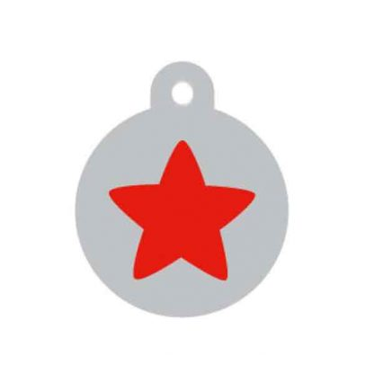 large-red-and-silver-star-disc-pet-tag