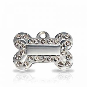 large-silver-diamante-bone-pet-tag