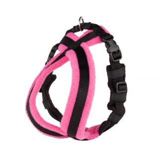 pink-fleece-lined-dog-harness