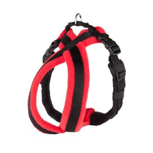 red-fleece-lined-dog-harness
