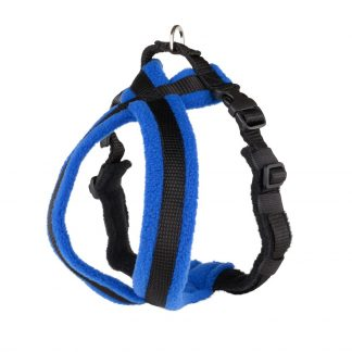royal-blue-fleece-lined-dog-harness