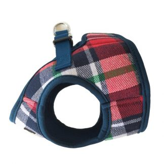 tartan-step-in-dog-harness-side-view