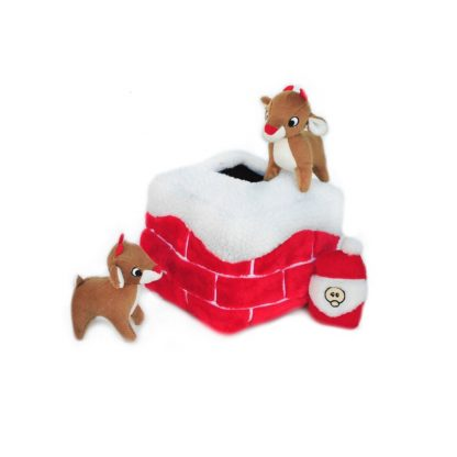 zippy-paws-holiday-burrow-chimney-with-santa