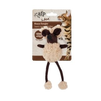 all-for-paws-mouse-dangler-cat-toy-beige
