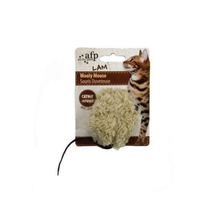 all-for-paws-wooly-mouse-cat-toy-beige