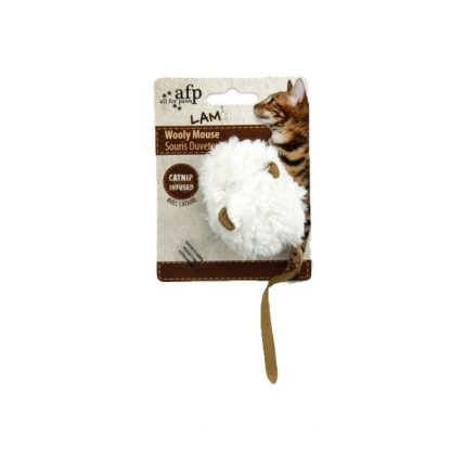 all-for-paws-wooly-mouse-cat-toy-cream