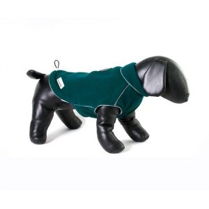 doodlebone-green-fleece-dog-jacket