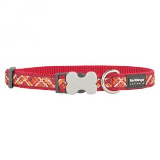red-dingo-flanno-red-dog-collar
