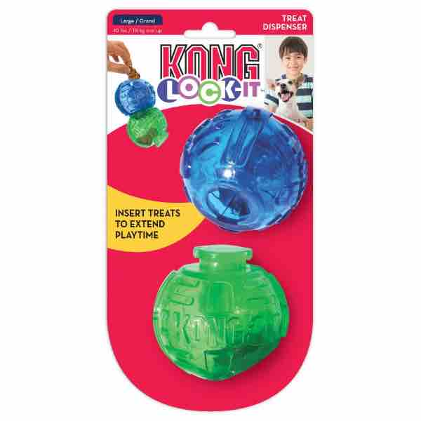 KONG Lock-It 2 Ball Dog Toy