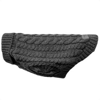 canine-co-cableknit-jumper-grey