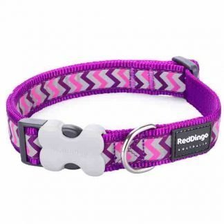 red-dingo-purple-reflective-ziggy-dog-collar