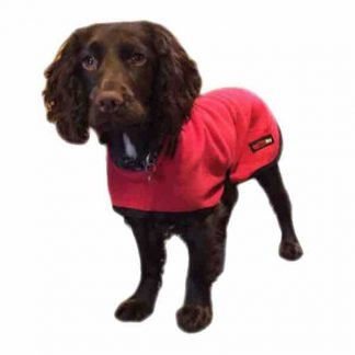 hotterdog-fleece-coat-red