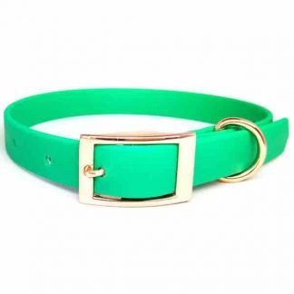 biothane-dog-collar-emerald-green