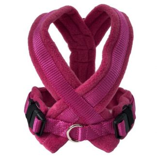 cerise-fleece-lined-harness